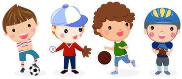 Grupa sport chłopiec ilustracja wektor