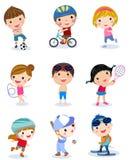 Grupa sport dziewczyny i chłopiec ilustracji