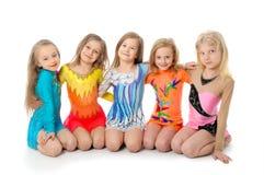 Grupa sporty małe dziewczynki zdjęcie royalty free