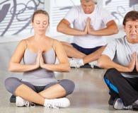 Grupa starsi ludzie medytować Obrazy Stock