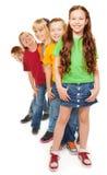 Grupa szczęśliwi dzieciaki Zdjęcie Stock