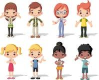 Grupa szczęśliwi kreskówek dzieci ilustracji