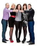 Grupa szczęśliwi ludzie biznesu Zdjęcie Royalty Free