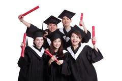 Grupa szczęśliwy absolwenta uczeń Obraz Royalty Free