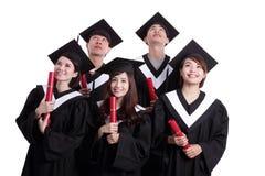 Grupa szczęśliwy absolwenta uczeń Obrazy Royalty Free