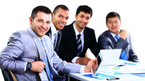Grupa szczęśliwi młodzi ludzie biznesu Zdjęcia Stock