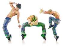 Grupa tancerz w dancingowym abstrakcjonistycznym pojęciu Zdjęcie Royalty Free