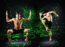 Grupa tancerz w dancingowym abstrakcjonistycznym pojęciu Obrazy Royalty Free