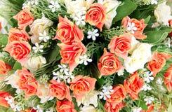 Grupa tkaniny róży kwiat Zdjęcie Stock