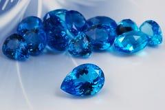 Grupa topazowi gemstones. Obrazy Stock