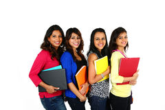 Grupa uśmiechać się żeńskich uczni Zdjęcia Royalty Free
