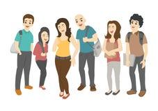 Grupa uśmiechać się nastoletnich uczni ilustracja wektor