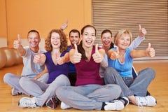 Grupa w sprawności fizycznej centrum mieniu Zdjęcie Stock