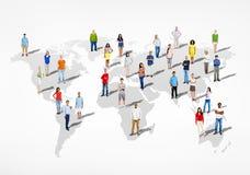 Grupa Wielo- Etniczni Różnorodni ludzie świat ilustracji