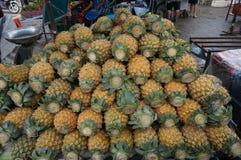 Grupa świezi ananasy Obraz Royalty Free