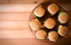 Grupa wołowina hamburgery Zdjęcie Royalty Free