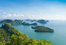 Grupa wyspy w południe Tajlandia Zdjęcie Royalty Free