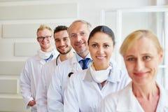 Grupa zaopatrzenie medyczne członkowie zdjęcia stock