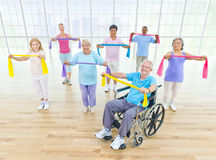 Grupa Zdrowi ludzie w sprawności fizycznej Zdjęcie Stock