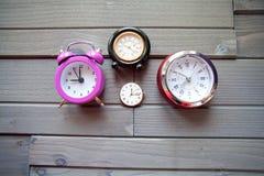 Grupa zegary Zdjęcie Royalty Free
