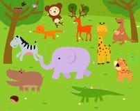 Grupa zwierzęta ilustracja wektor