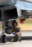 Grupo à terra de Eurofighter Fotografia de Stock Royalty Free