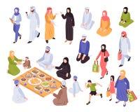 Grupo árabe da família ilustração stock