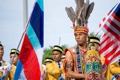 Grupo étnico de Murut durante o Dia da Independência de Malásia Imagem de Stock Royalty Free