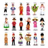 Grupo étnico diverso de niños de diversas nacionalidades y de países stock de ilustración