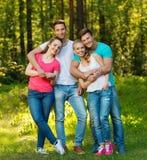 Grupo étnico multi de amigos Imagen de archivo