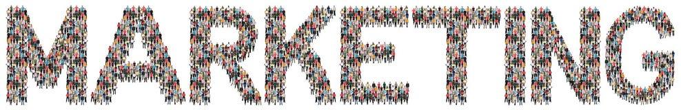 Grupo étnico multi de la estrategia empresarial de la publicidad del márketing del PE imagen de archivo