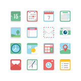 Grupo útil do ícone Fotografia de Stock