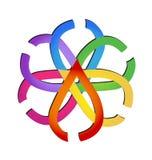 Grupo abstracto de logotipo de la diversidad de las hojas Fotos de archivo libres de regalías