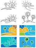 Grupo abstrato da paisagem Imagem de Stock