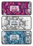 Grupo abstrato do fundo da Web de aranha dos desenhos animados Ilustração do Vetor