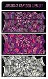 Grupo abstrato do fundo da Web de aranha dos desenhos animados Ilustração Royalty Free
