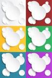 Grupo abstrato do fundo dos círculos do papel Imagem de Stock