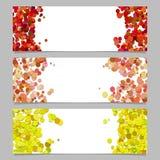 Grupo abstrato do molde da bandeira com pontos coloridos Imagem de Stock Royalty Free