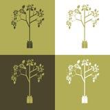 Grupo abstrato do vetor de ilustrações ecológicas do símbolo Foto de Stock Royalty Free