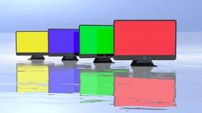 Grupo abstrato dos monitores Fotos de Stock