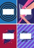 Grupo abstrato geométrico do fundo, forma mínima do projeto gráfico, cartaz da propaganda do molde ilustração royalty free