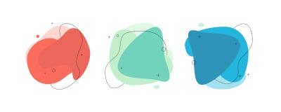 Grupo abstrato moderno da bandeira do vetor Formulário líquido geométrico liso com várias cores ilustração do vetor
