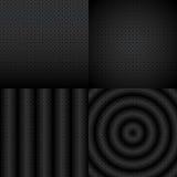 Grupo abstrato preto e branco sem emenda do teste padrão Fotografia de Stock Royalty Free
