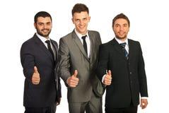 Grupo acertado de hombres de negocios fotos de archivo