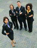 Grupo acertado de hombres de negocios de la diversidad Foto de archivo libre de regalías