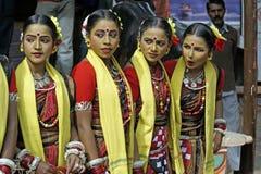 Grupo adolescente de la danza Foto de archivo libre de regalías