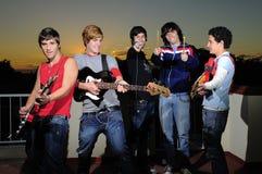 Grupo adolescente de músicos Fotografía de archivo