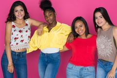 Grupo adolescente de muchachas Fotografía de archivo libre de regalías