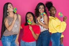 Grupo adolescente de muchachas Foto de archivo libre de regalías