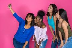Grupo adolescente de muchachas Imagen de archivo libre de regalías